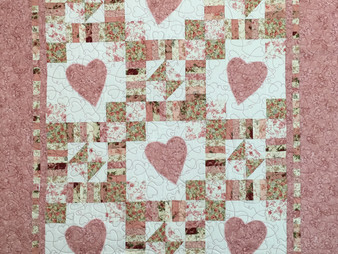 Delia Romero Hearts for Granddaughter Quilt