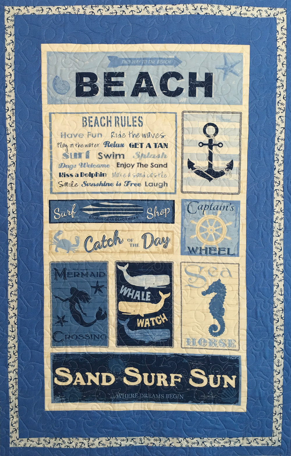 Beach Theme quilt by Beth Robertson