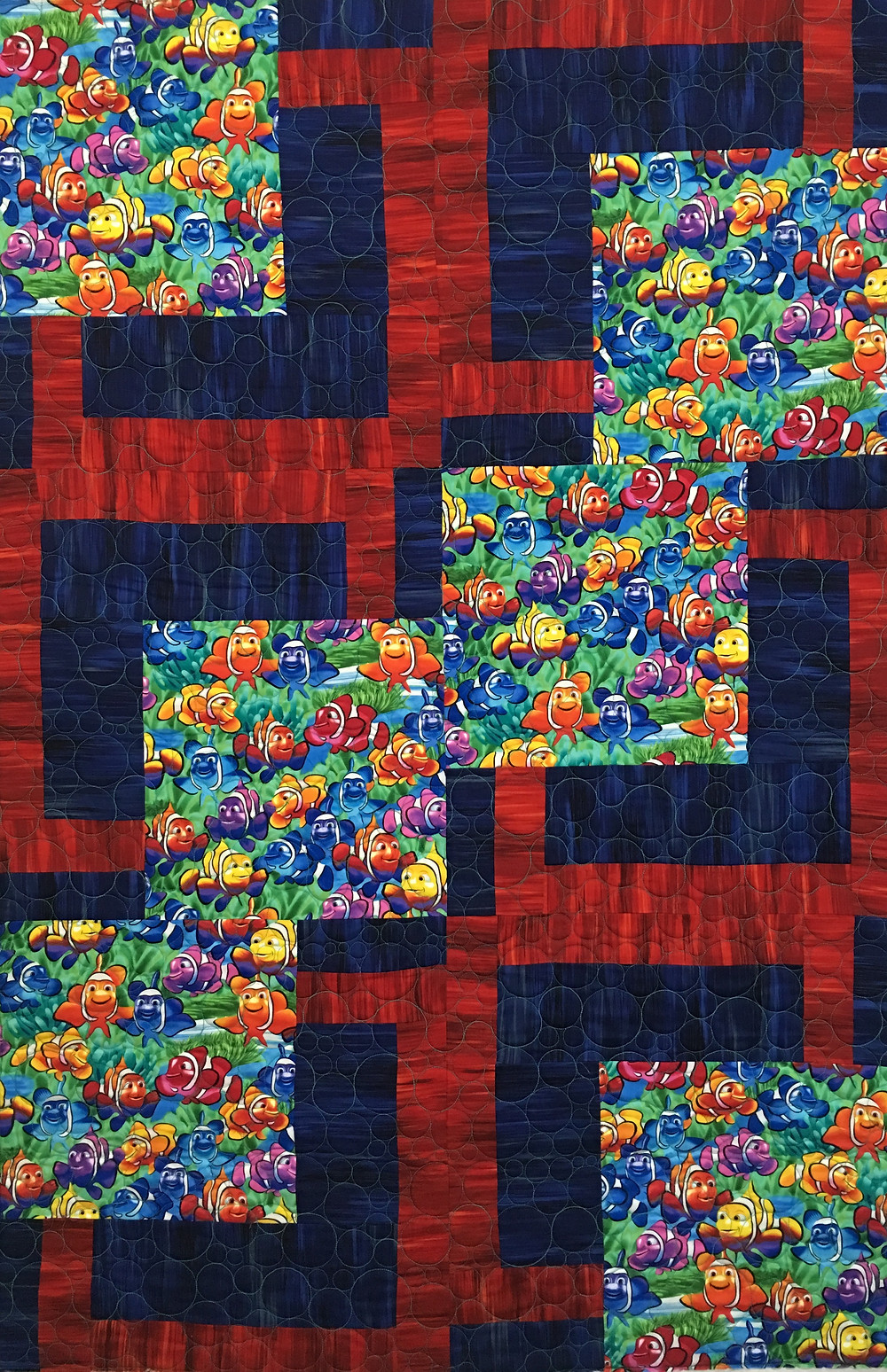 Nemo Fish Baby Quilt by Beth Robertson