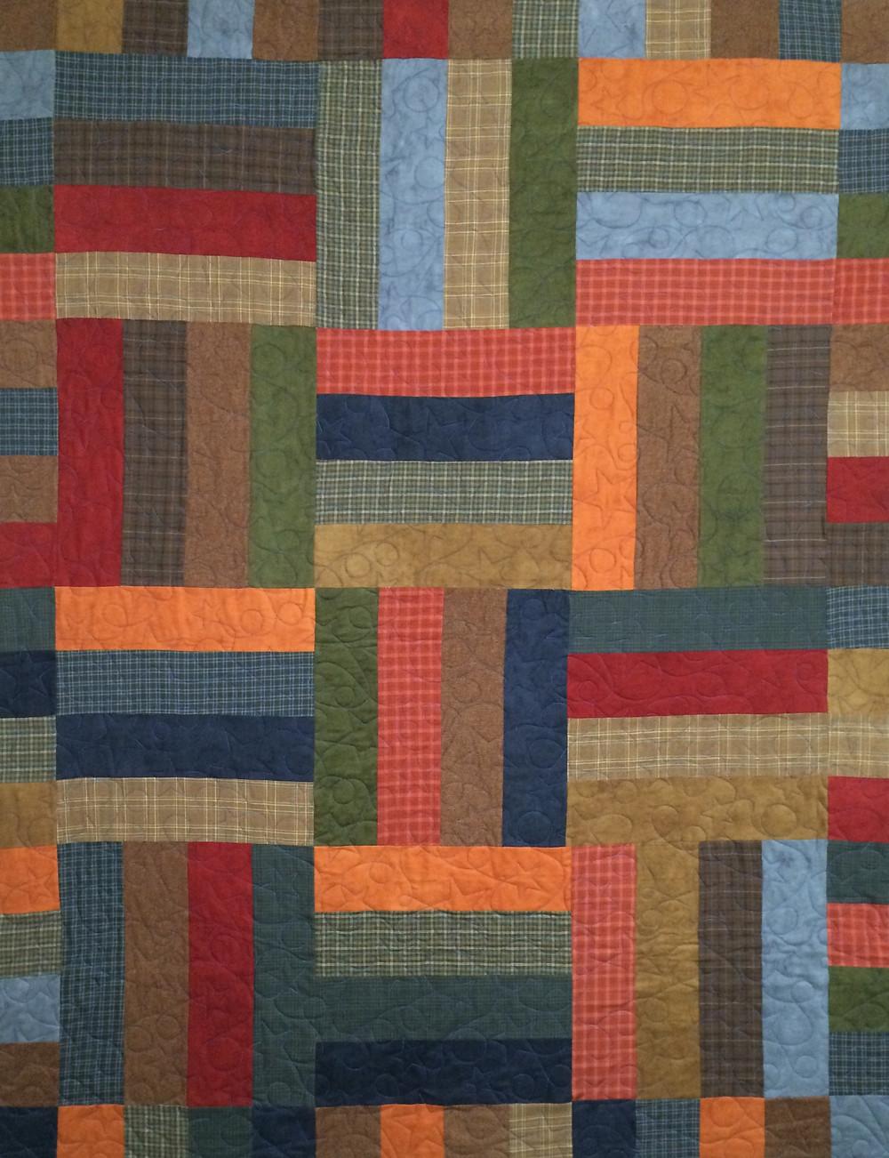 Donnis Flannel Strip Quilt