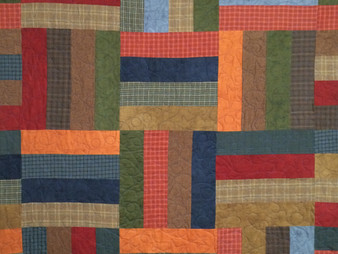 Donnis Doyle Flannel Strip Quilt