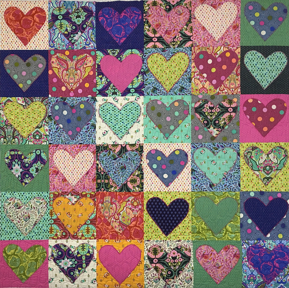 Tula Pinks from the Heart Quilt by Elizabeth Cicchino