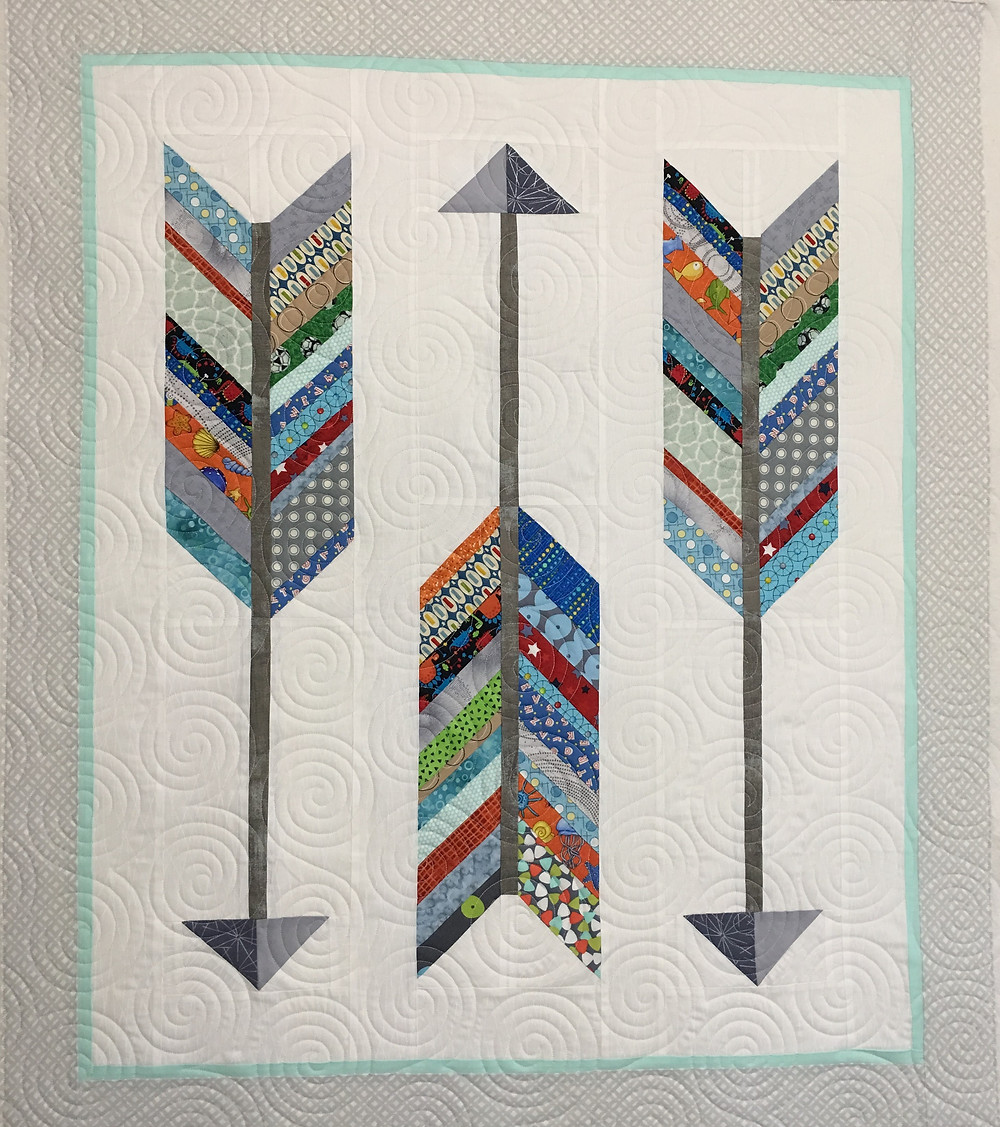 Arrow Baby Quilt by Andi Hays