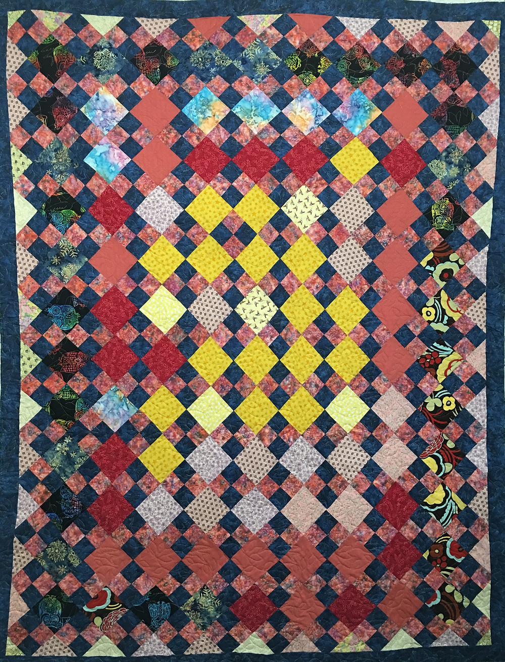 JoAnn Four Square Scrappy Quilt