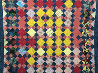 JoAnn Hanowski Four Square Scrappy Quilt