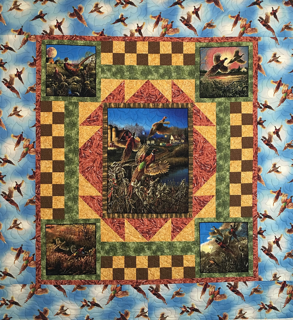 Pheasant Quilt by Joanne Kozlowsky