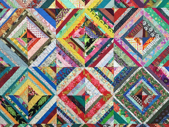 Jean Tucker's Colorful Scrappy Quilt