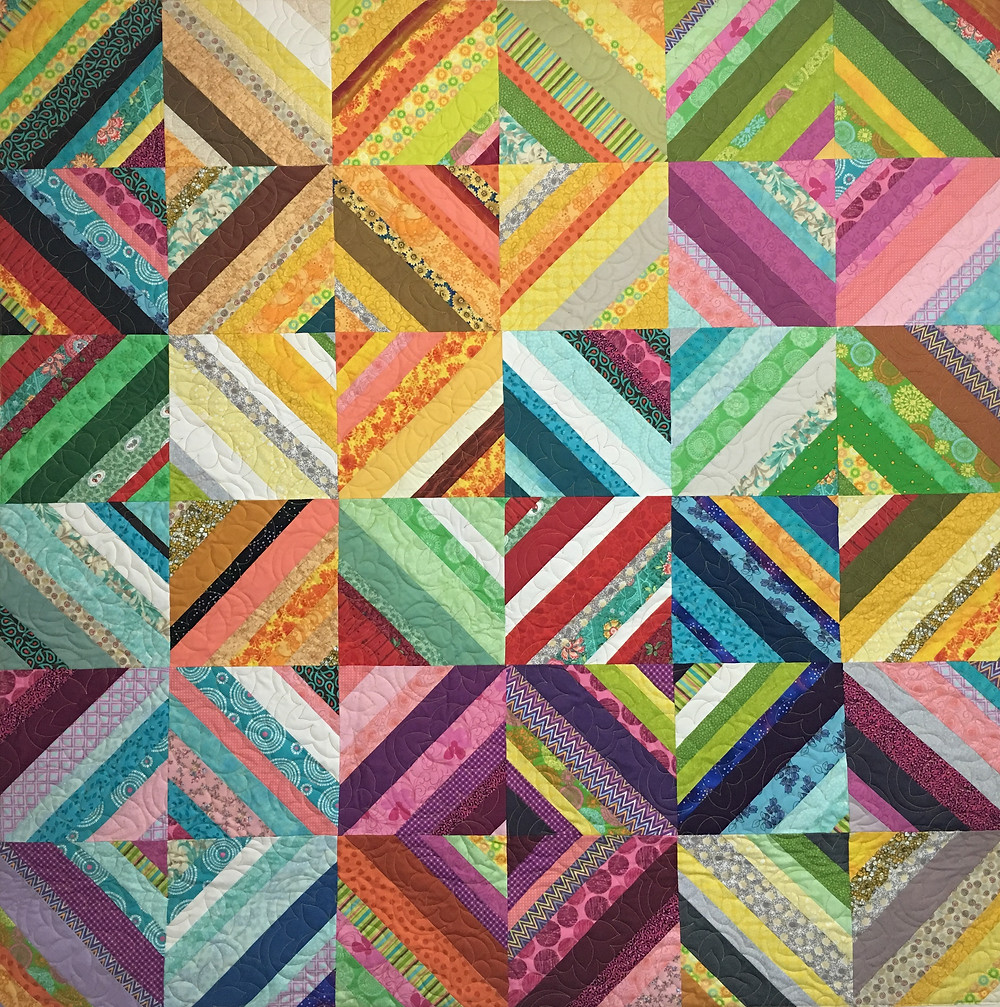 Stripe Squares on Point by Penny Wheat