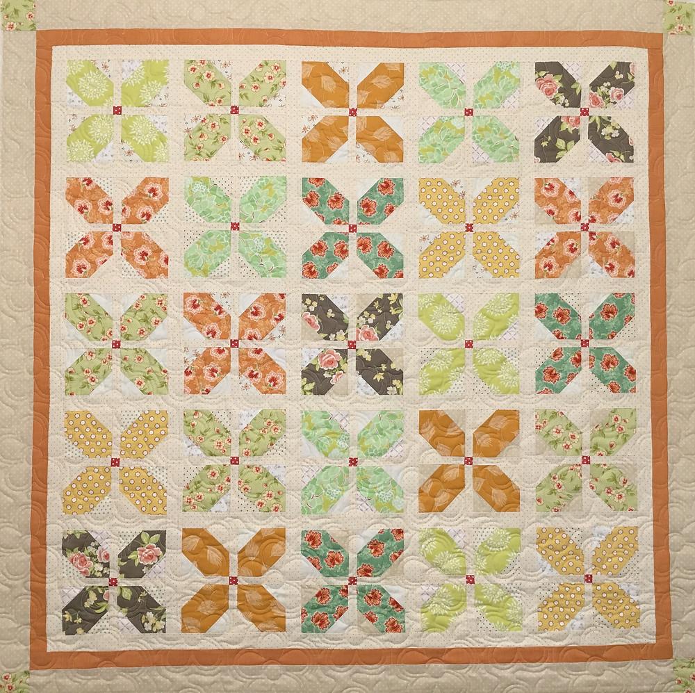 Petal Block Quilt by Deb Taylor