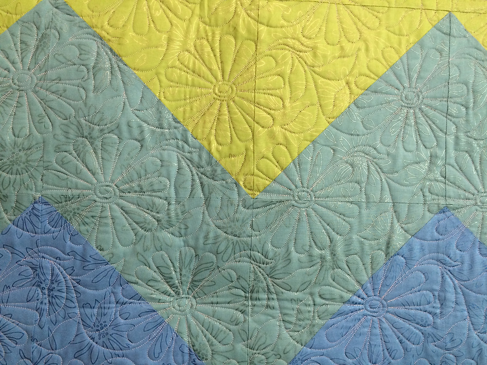 closeup of Delfina Guerra Party Girl Quilt