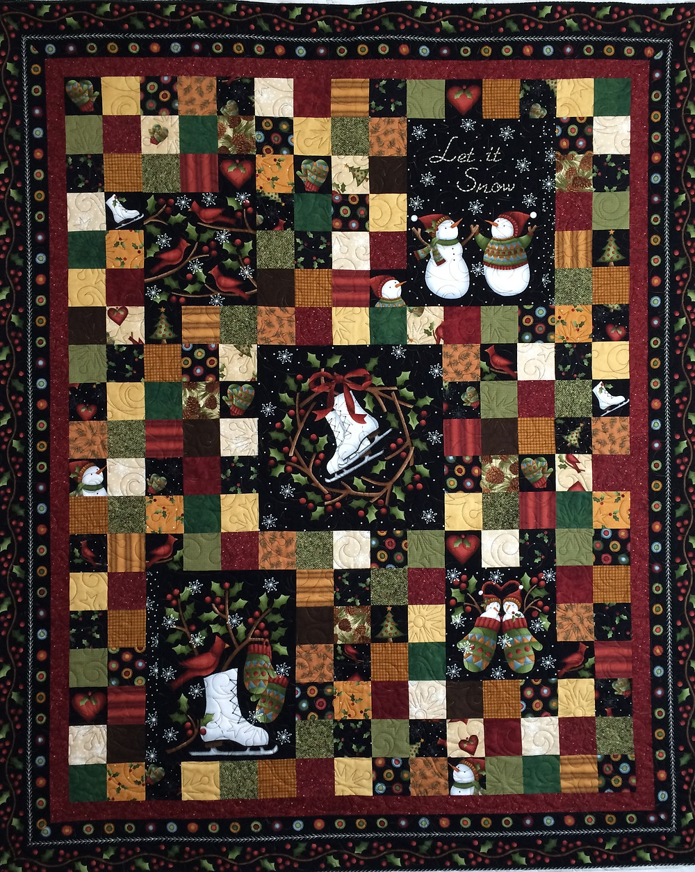 Leslie Christmas Quilt in Flannel