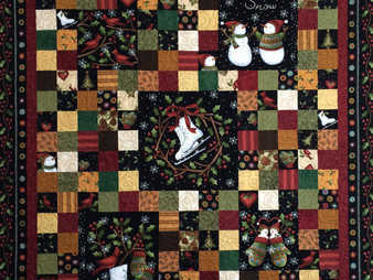 Leslie St. Onge Christmas Quilt in Flannel