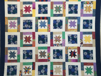 Rose Dillon Colorful Stars and Circles Quilt