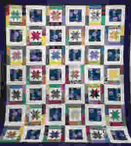Rose Dillion's Colorful Star and Circles Quilt