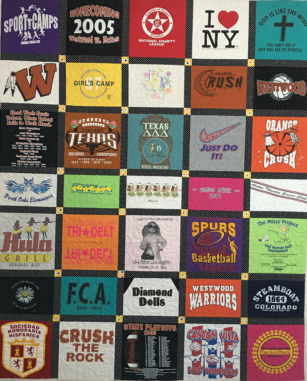 T Shirt Quilt by Barbara Alfred