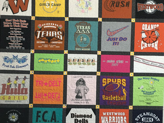 Mette Brown T Shirt Quilt