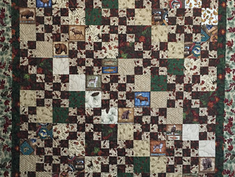 Leslie St.Onge Alternating Large and Small Squares Quilt