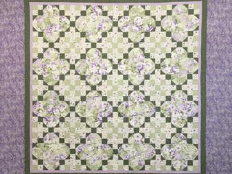 Chris Olsen Purple Paisley Quilt