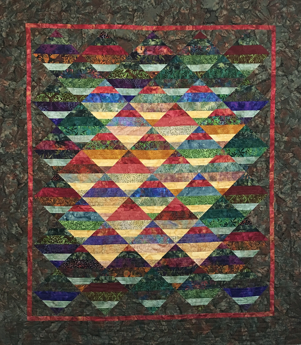 Multi Color Blocks on Point by Chris Olsen
