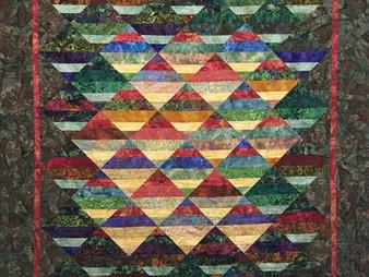 Chris Olsen Multi Color Batik Quilt
