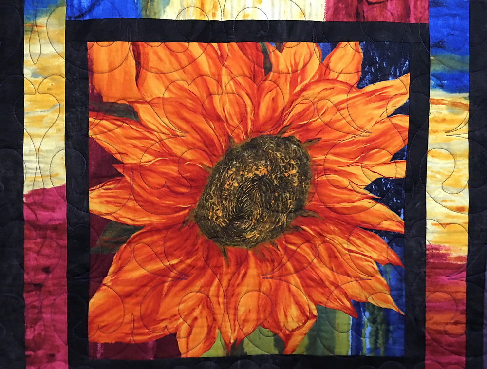Closeup of Beth Multi Flower in bright colors