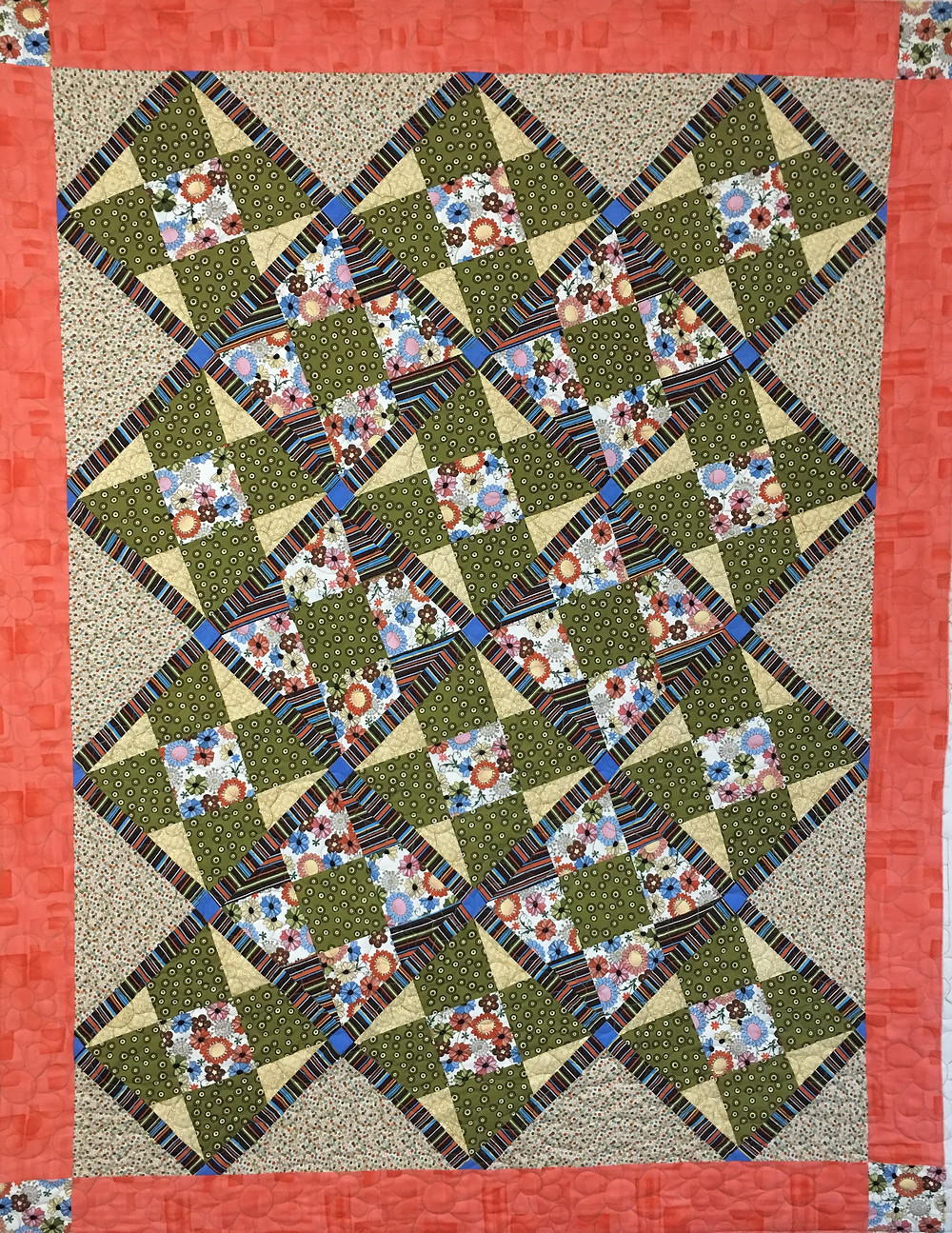 Nine Patch Quilt by Cynthia Parra