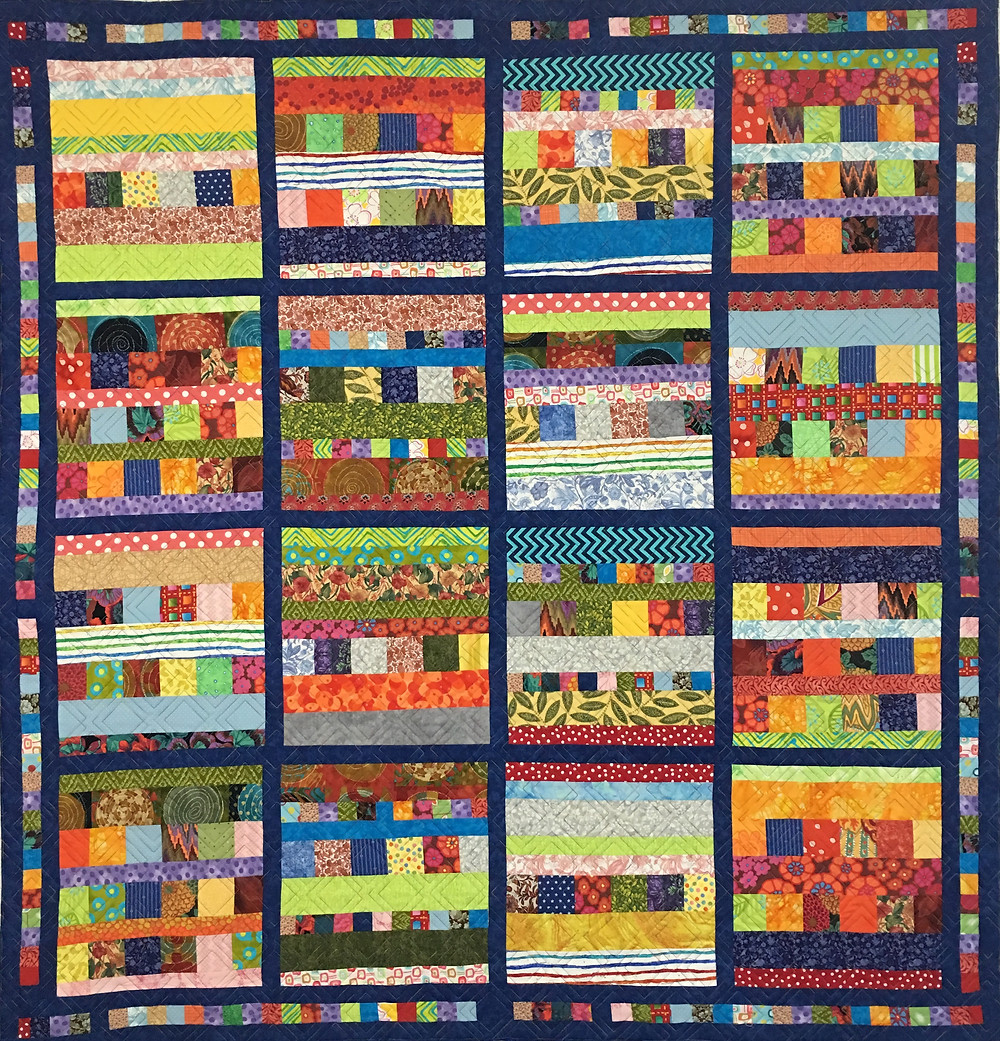 Blocks and Bars Quilt by Laura Wetzel