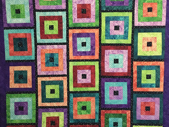 Laura Wetzel Log Cabin Quilt in Brights