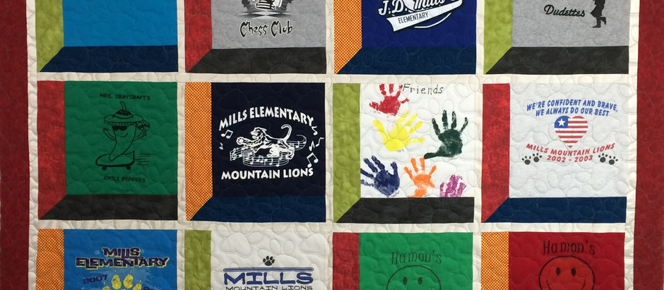 Cindy Khogly School T Shirt Quilt