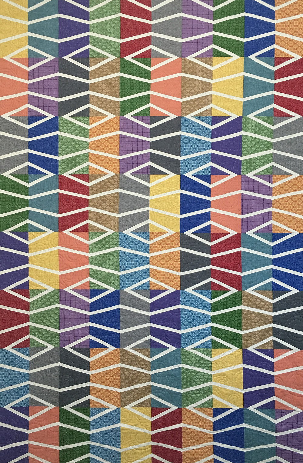 Diagonal Bliss Quilt by Kathy Ryan