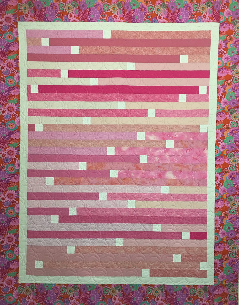 Jelly Roll Race 2 Quilt by Lynne Capps
