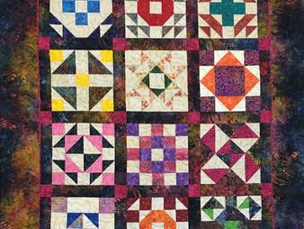 Debbie Seitz Multi Color Batik Sampler Quilt