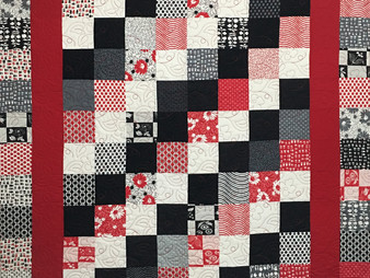 Wendy Bell Red and Black Charm Pack Quilt