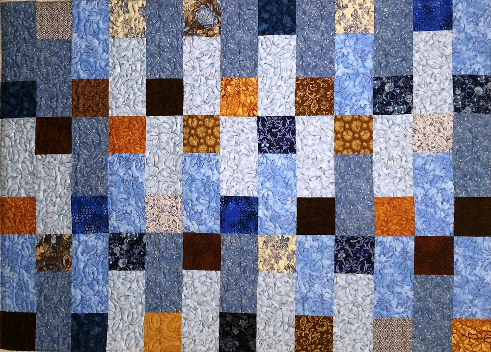 Squares and Rectangles Quilt by Delia Romero