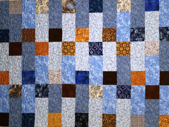 Delia Romero Squares and Rectangles Quilt