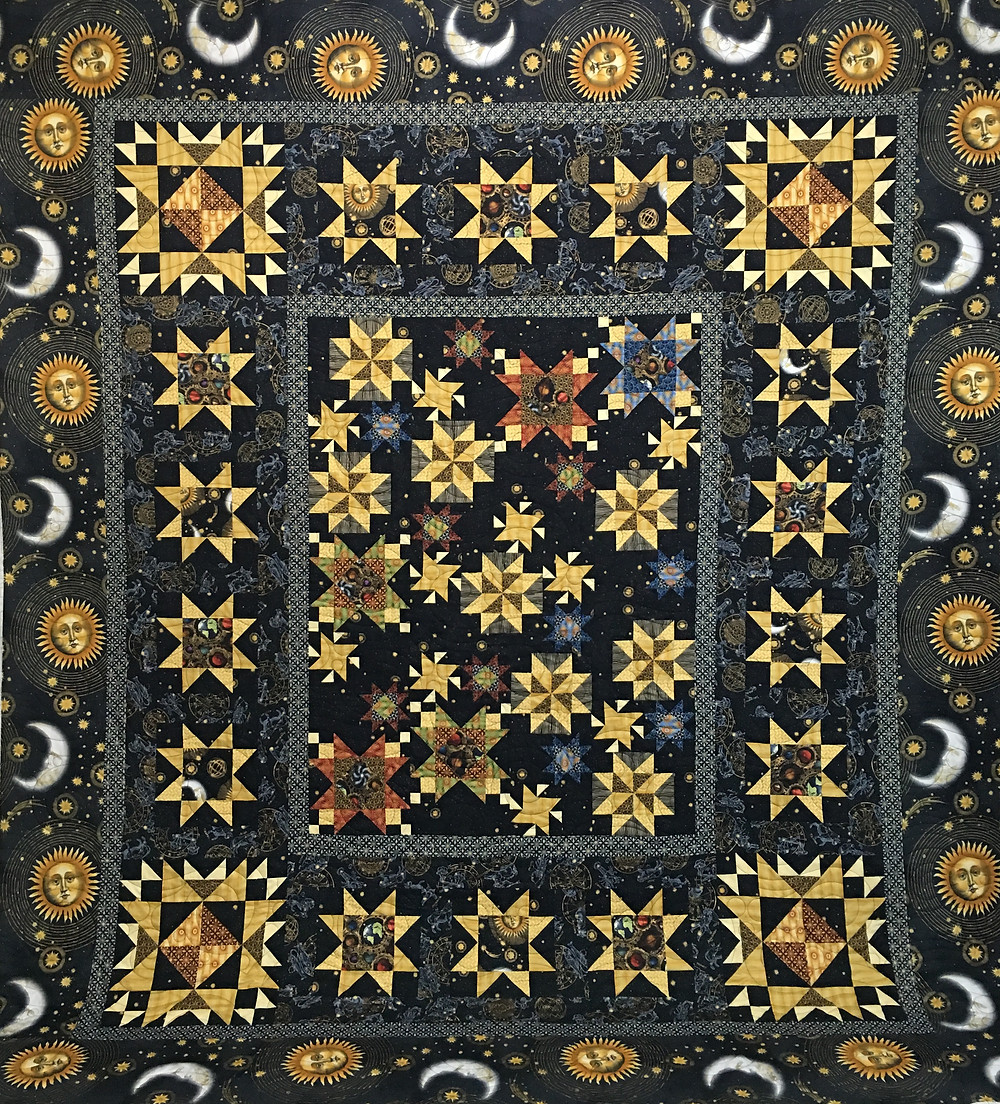 Jewels of the Universe Quilt by Leanne Strum