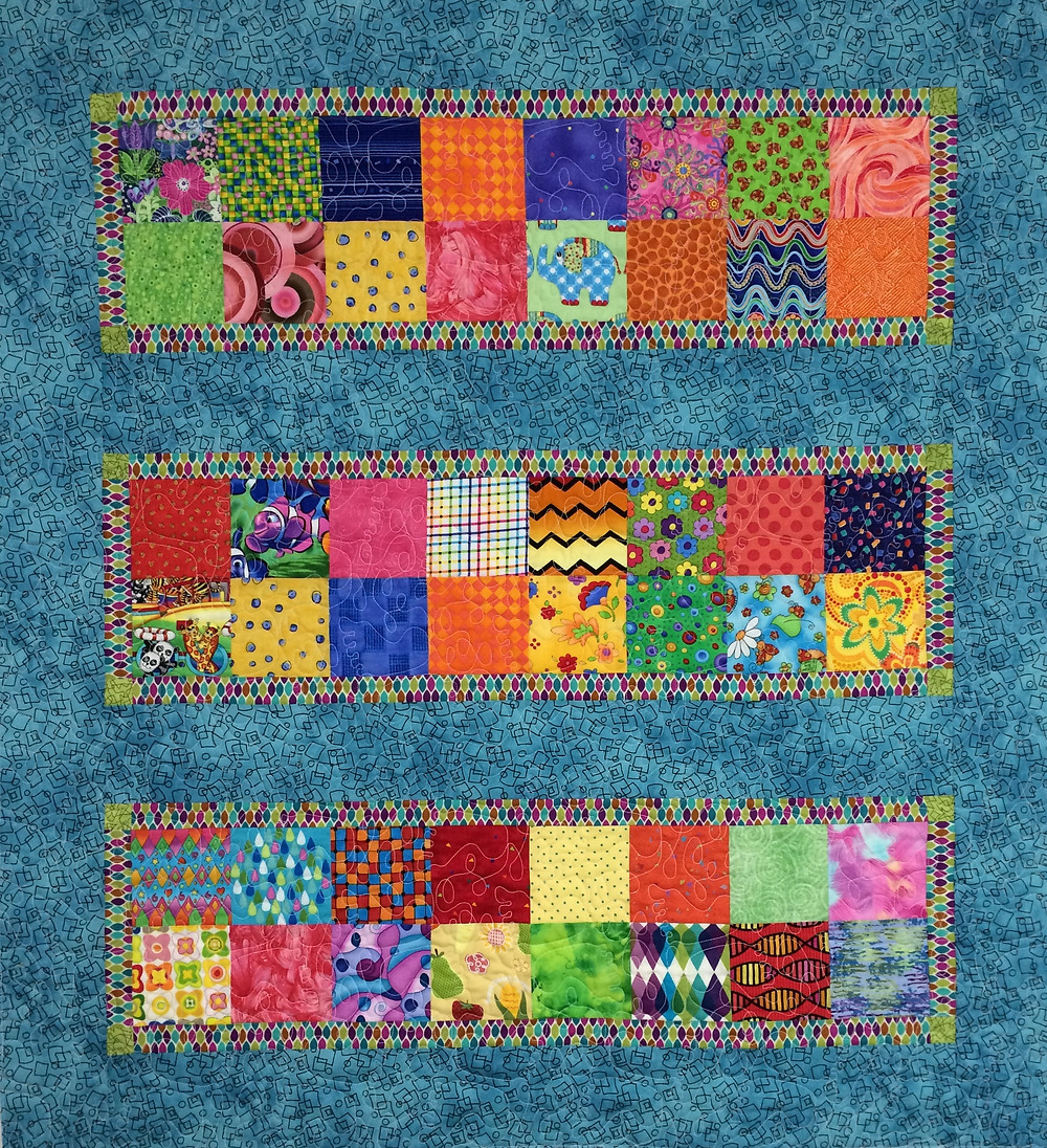colorful squares for a baby quilt