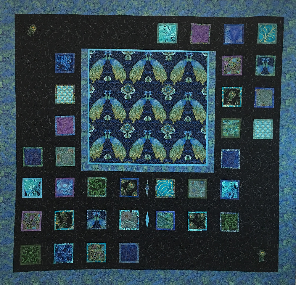A Collection of Peacocks quilt by Peggy Krebs