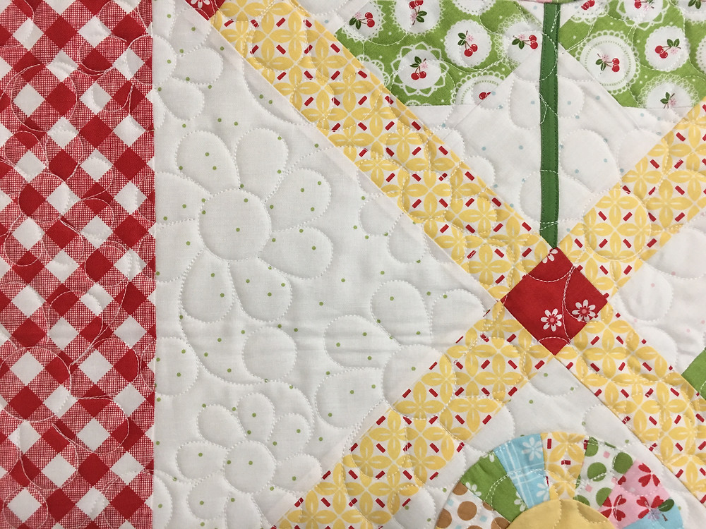 Flower Quilting Pattern on Bloom Quilt by Deb Taylor
