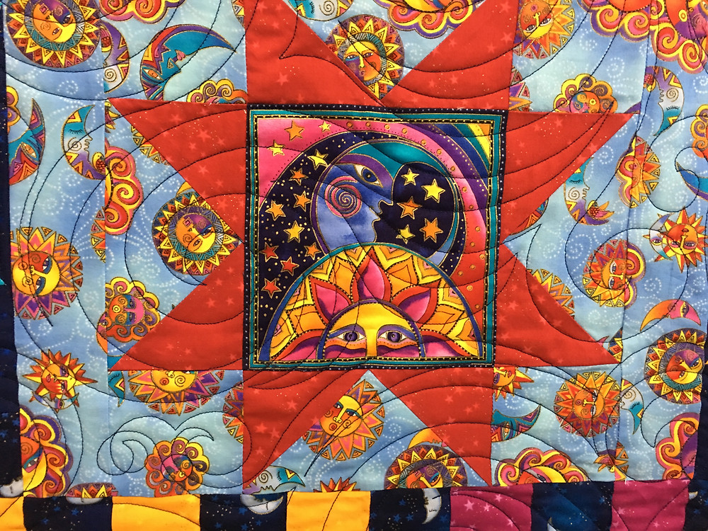 another closeup of Laurel Burch Quilt by Shiels Stuckey