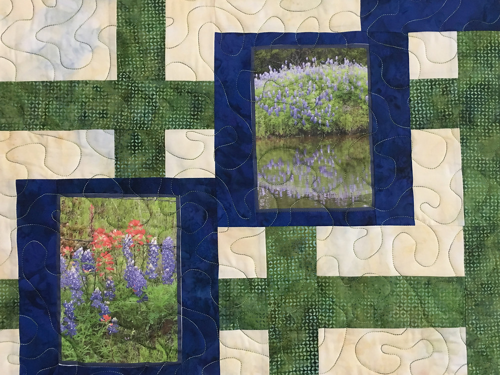 Meander Quilting Pattern on Traffic Jam by Cindy Lovelace