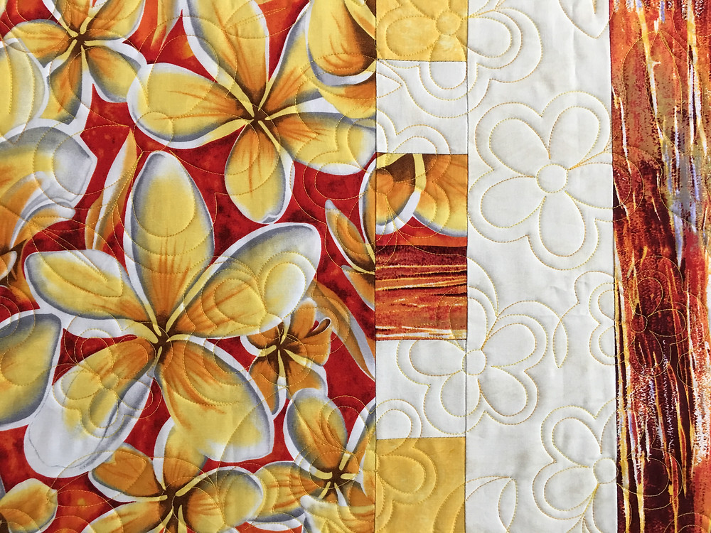 Flowers quilting pattern on Spring Fresh Quilt by Beth Robertson