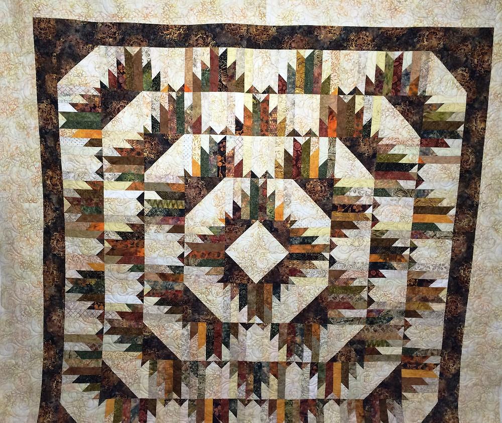 Delectable Mountain Getaway Quilt by Kathleen Kurdziel