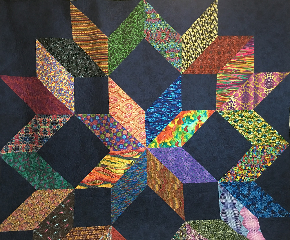 Monstrous Carpenters Quilt by Peggy Krebs