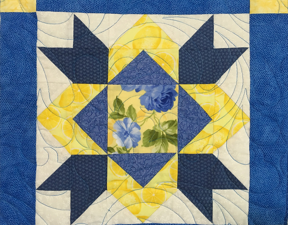close up of Community Sampler Quilt by Cindy Manning