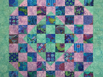 Evvy Edinburg Nine Patch Variation Quilt