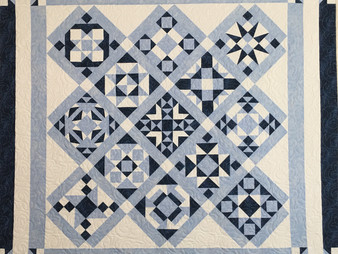 Elon Webber Blue and White Sampler