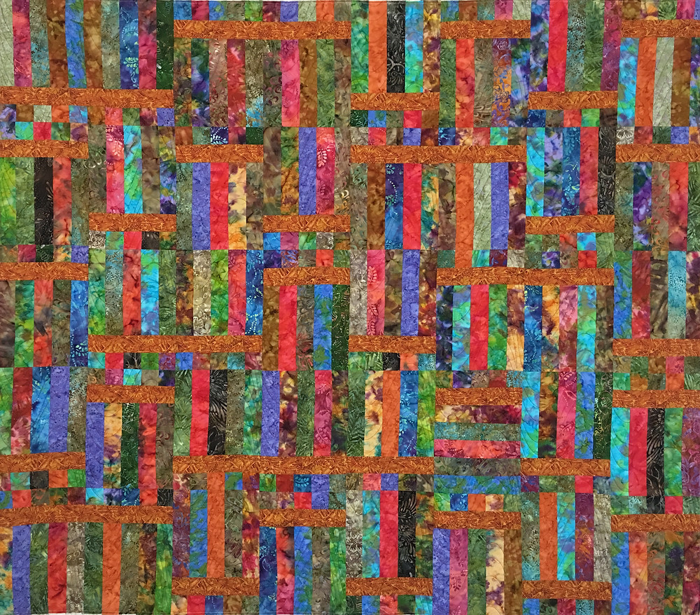 Squares and Rectangles in Batiks by Valarie Sherriff
