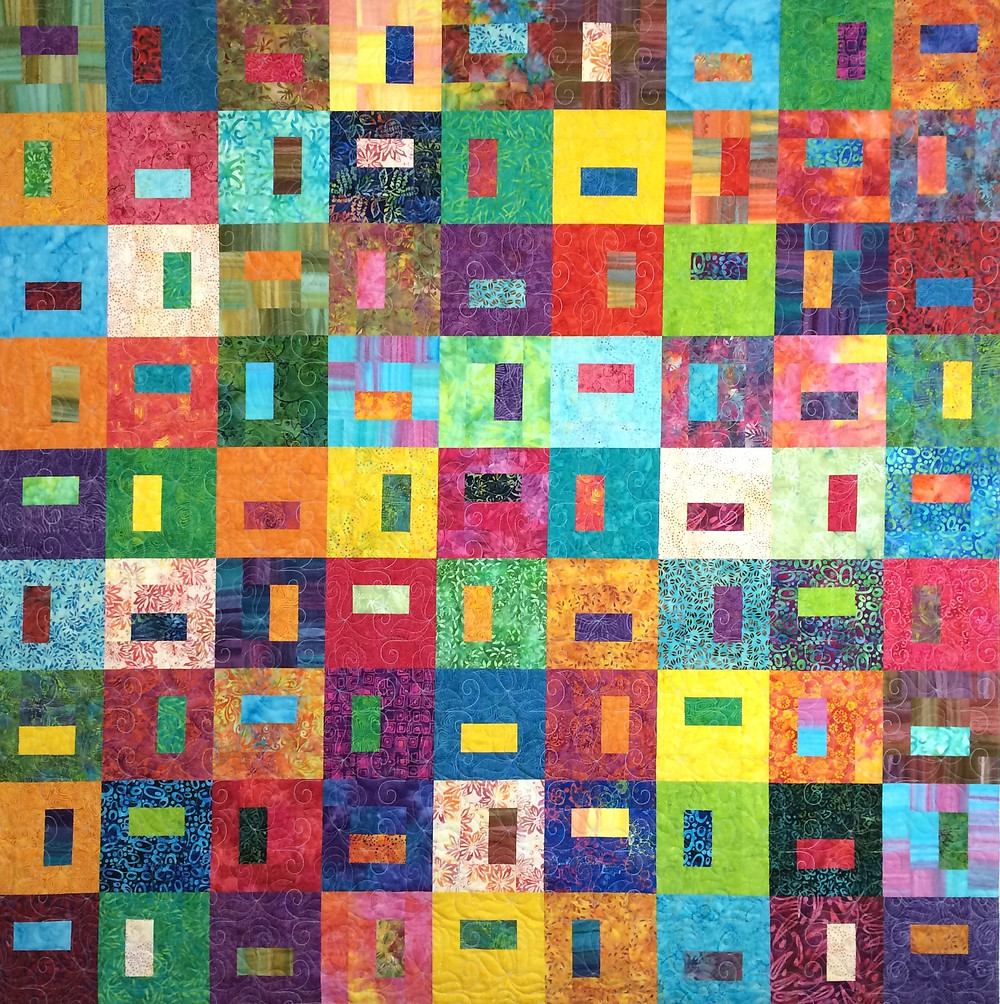 Lynn Capps Multi color quilt in Batiks