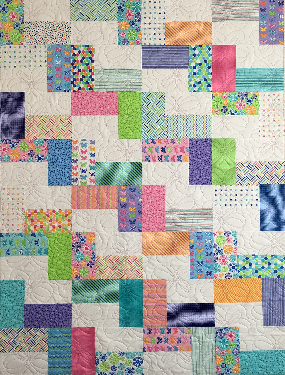 Colorful Quilt for Niece by Delfina Guerra